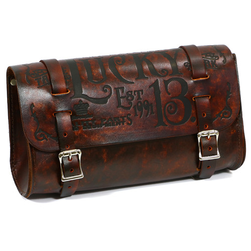 Lucky 13 Brown Leather Tool Pouch