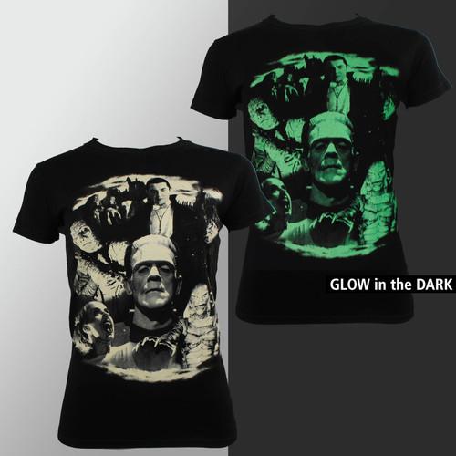 Universal Monster T-Shirt Girls - Bela Collage