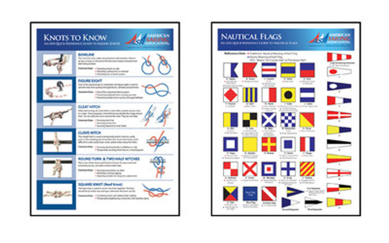 Nautical Flags and Knots to Know - Laminated Chart
