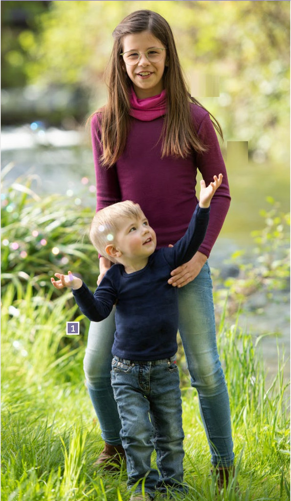 Engel Organic Wool/ Silk Children's Long Sleeved Shirt