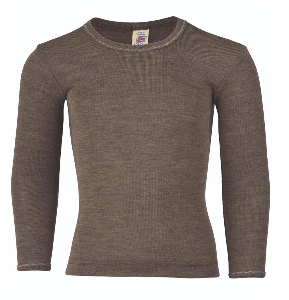 Engel Organic Wool/ Silk Children's Long Sleeved Shirt Color: Walnut