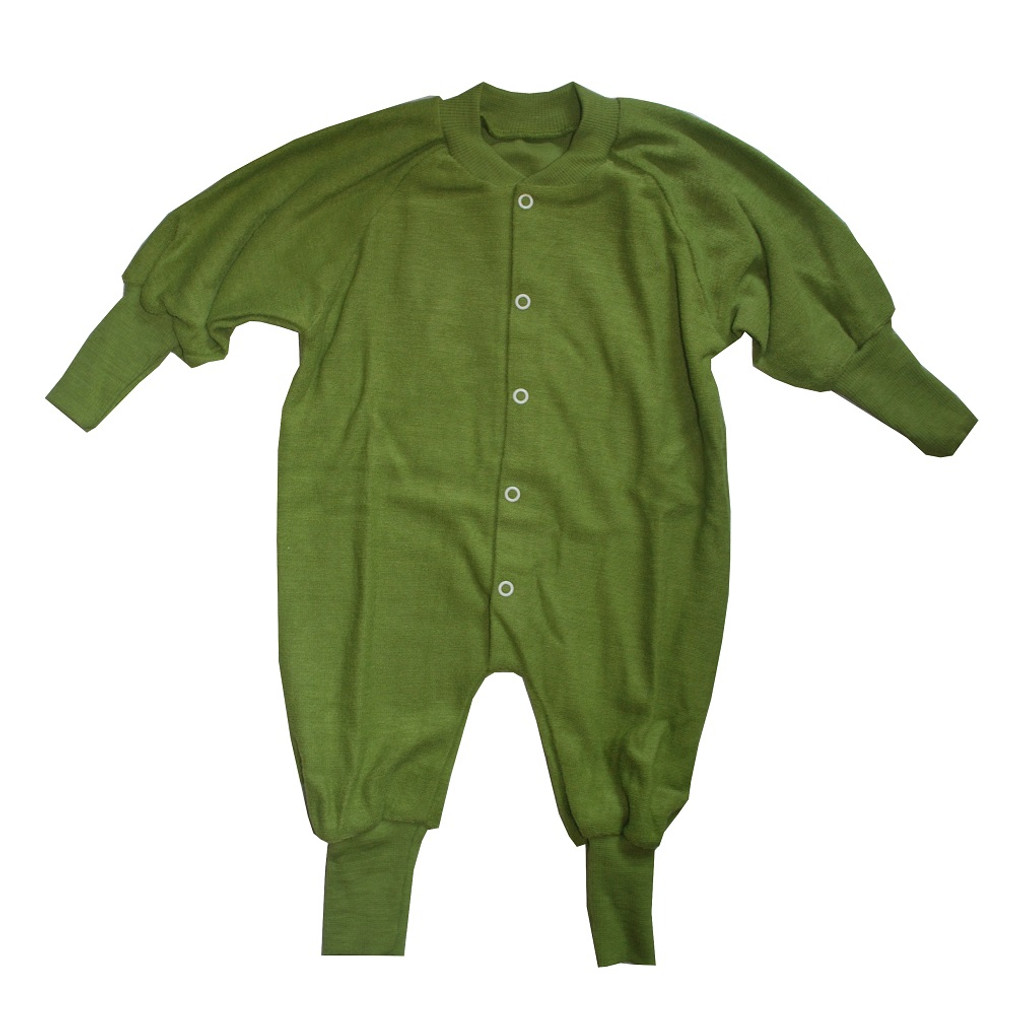 Cosilana Organic Wool Terry Pajamas Color: Green