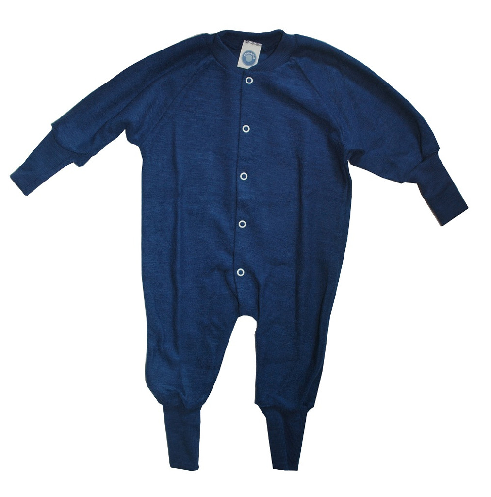 Cosilana Organic Wool Terry Pajamas Color: Navy