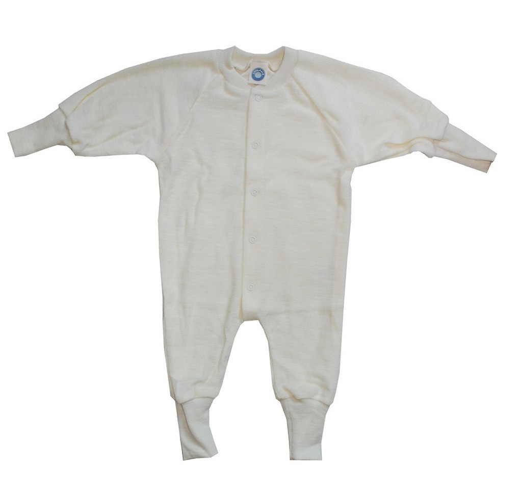 Cosilana Organic Wool Terry Pajamas Color: Natural