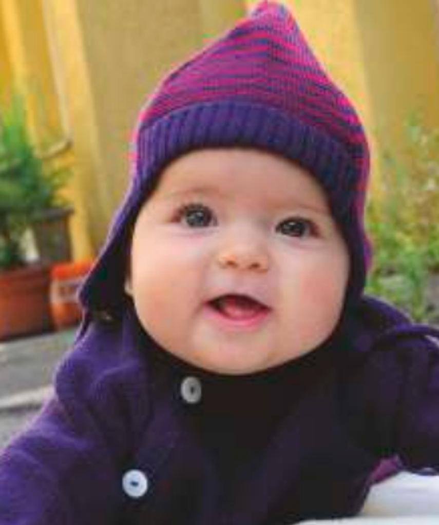 Organic Merino Wool Striped Baby Hat