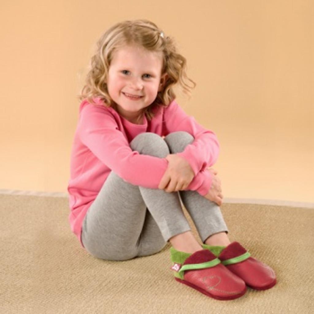 "Handmade Natural Leather Soft-Soled Indoor Slippers - ""Sunshine"""