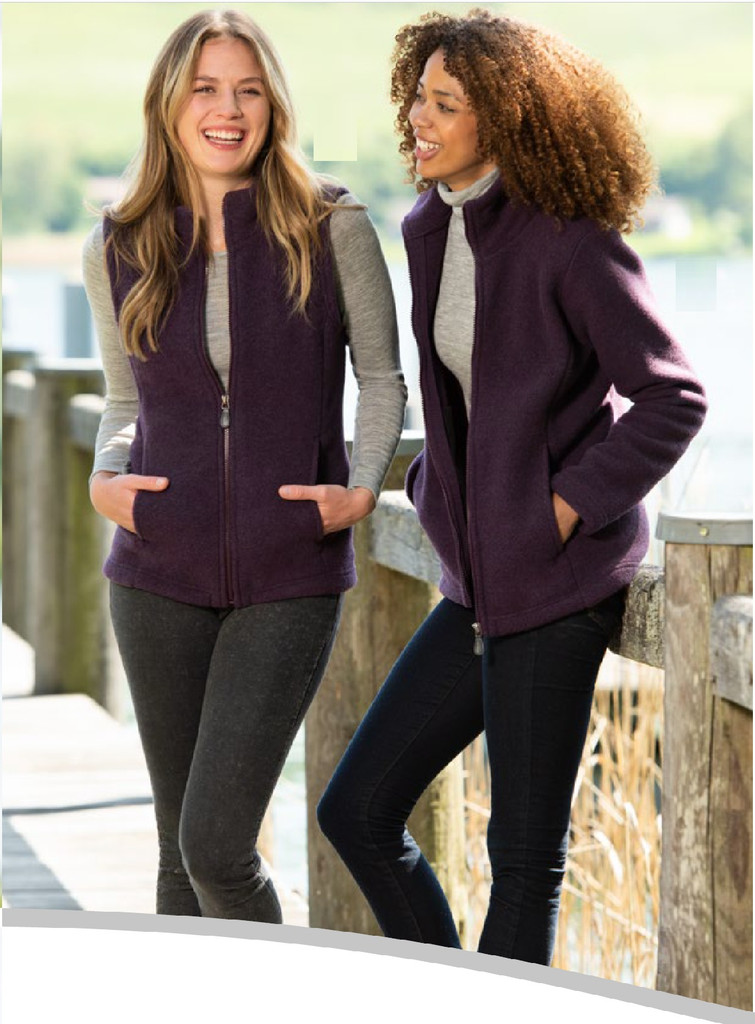 Organic Thick Wool Fleece Women's Jacket Color: 059 lilac melange