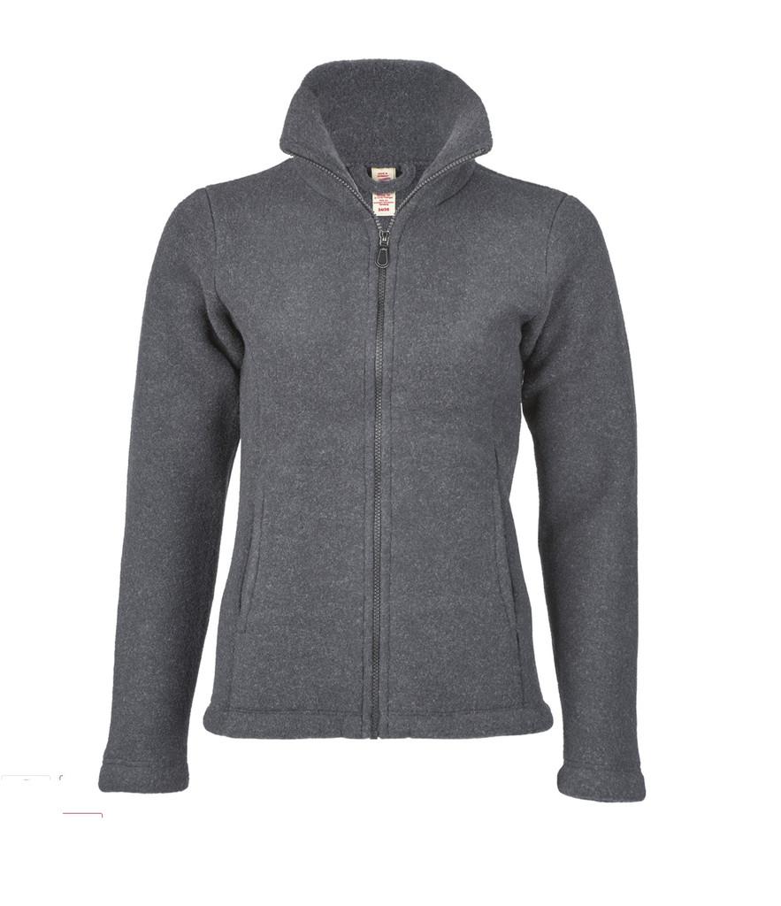 Organic Thick Wool Fleece Women's Jacket Color: 98 slate