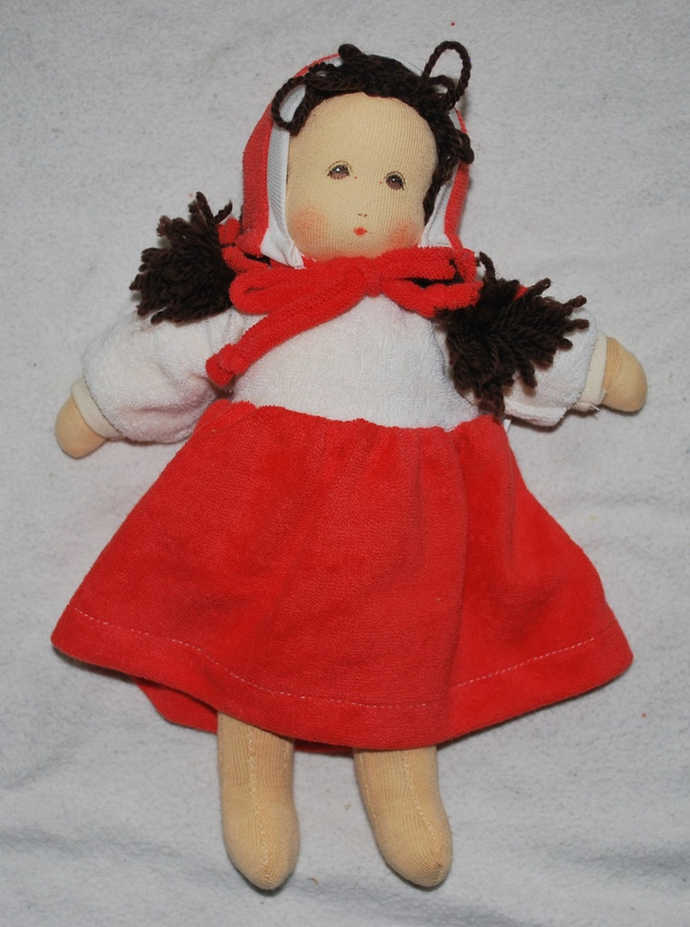 "Organic Cotton Waldorf Doll-  ""Little Red Riding Hood"""