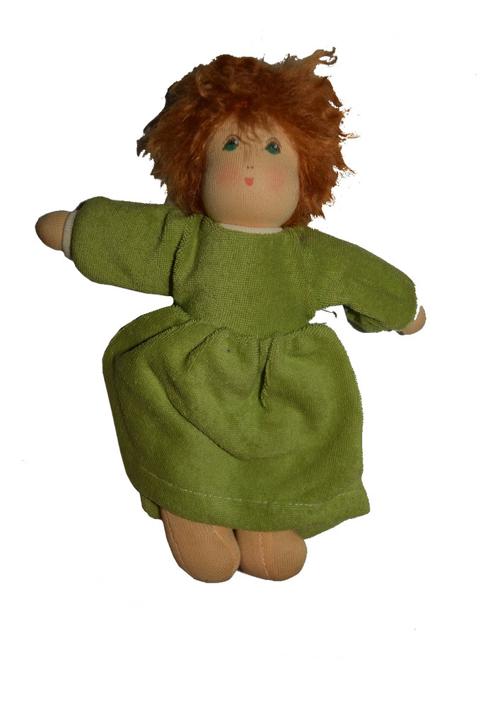 Organic Cotton Waldorf Doll with Terry Dress
