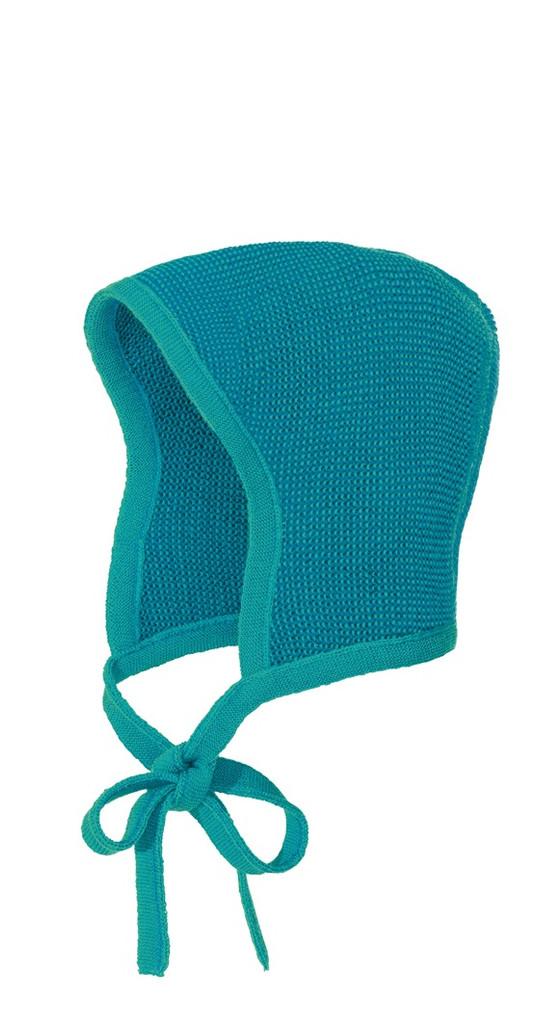 Knitted Melange Bonnet Color: 922 Blue Lagoon