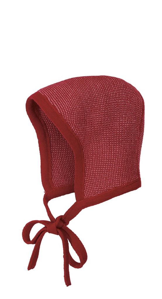 Knitted Melange Bonnet Color: 933 Bordeaux Rose