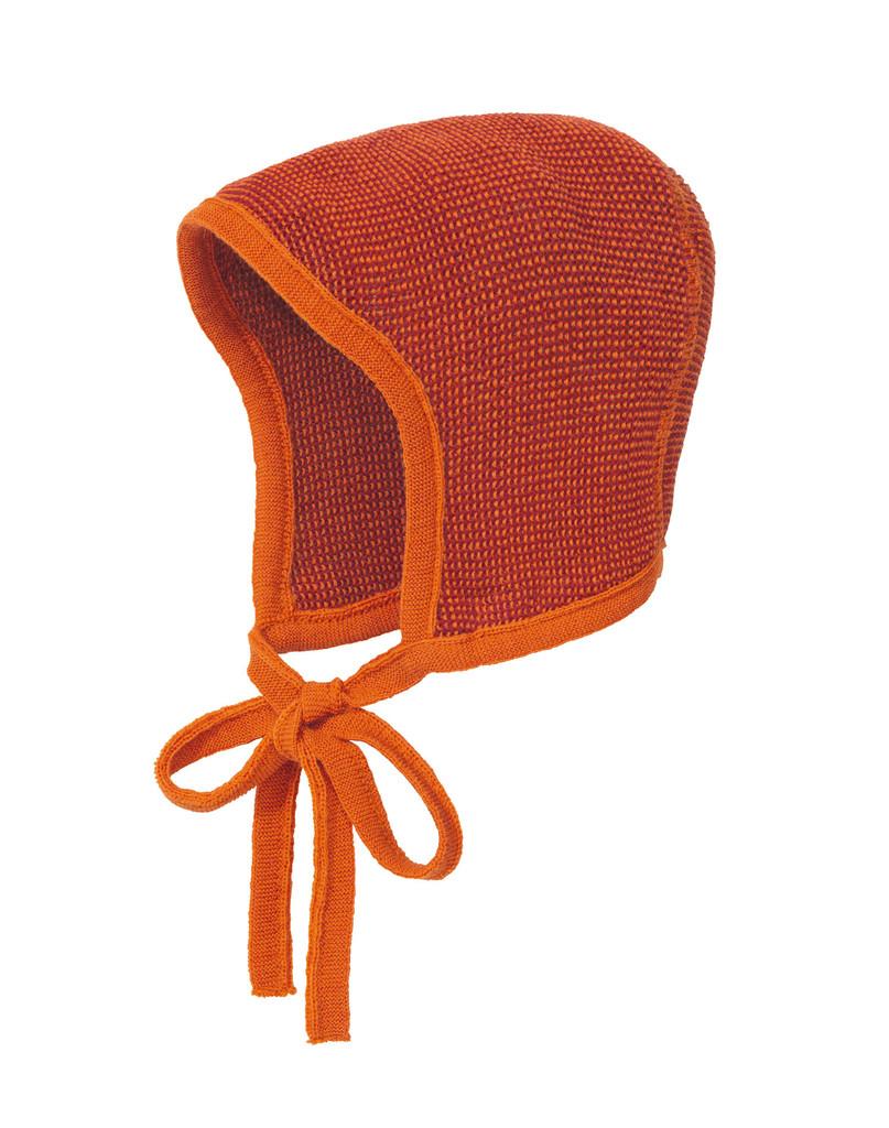 Knitted Melange Bonnet Color: 973 Orange Boureaux