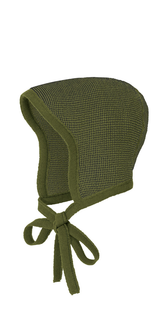 Knitted Melange Bonnet Color: 951 Oliv Antracite