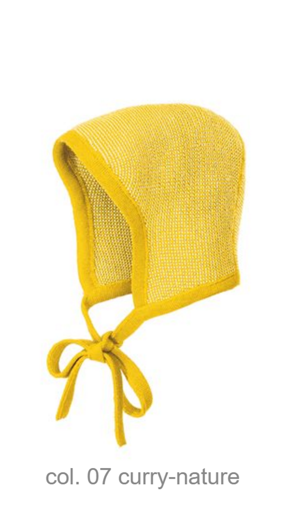 Knitted Melange Bonnet Color: 71 Curry Nature