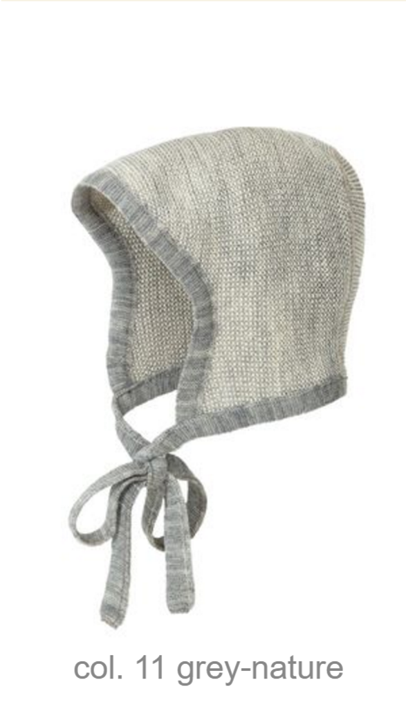Knitted Melange Bonnet Color: 11 Grey Nature