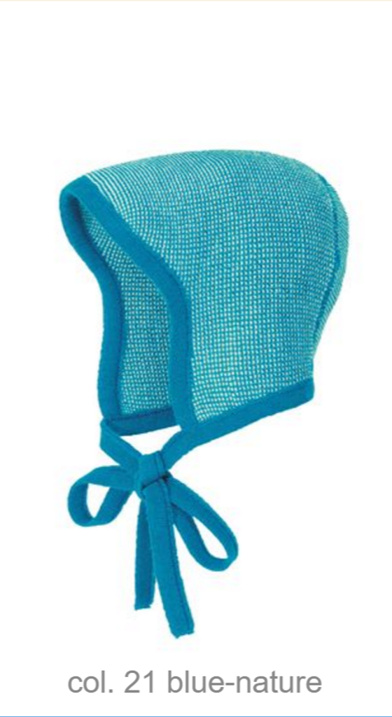 Knitted Melange Bonnet Color: 21 Blue Nature