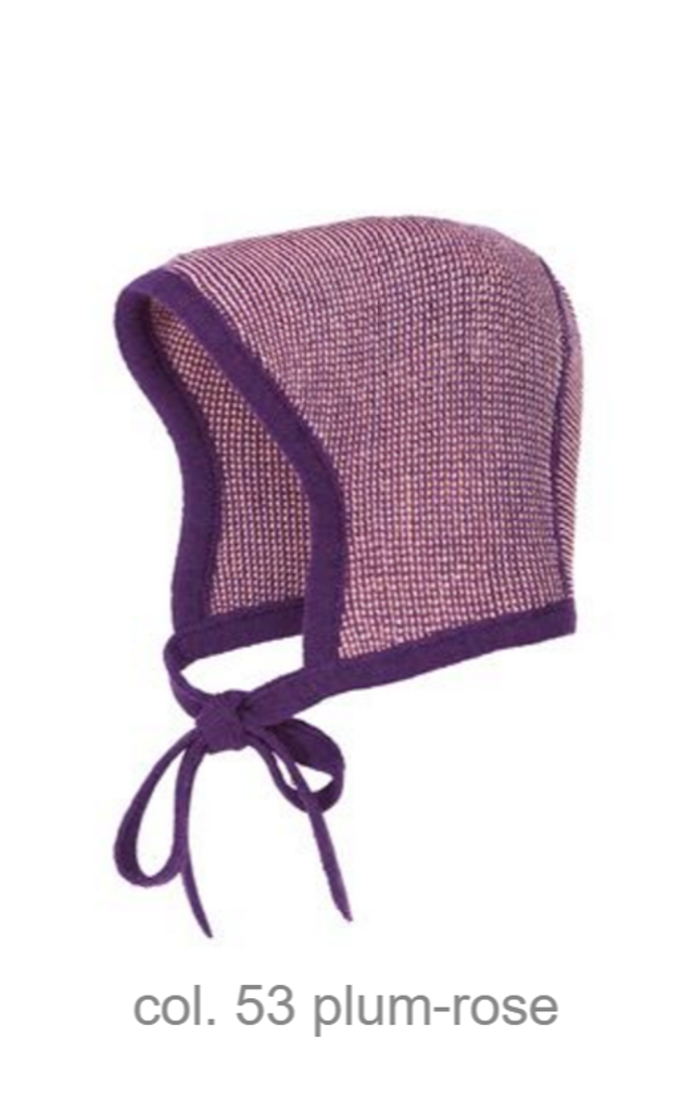 Knitted Melange Bonnet Color: 53 Plum Rose