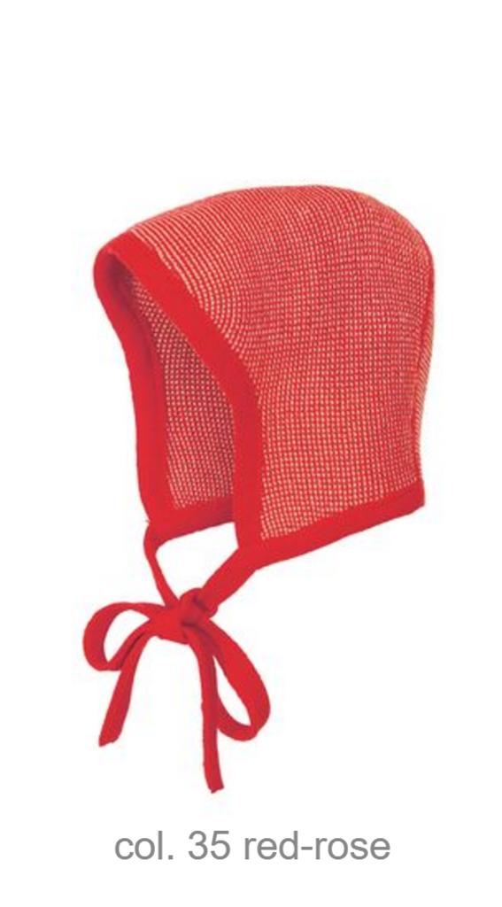Knitted Melange Bonnet Color: 35 Red Rose