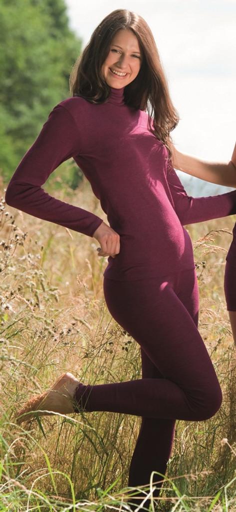 Engel Organic Wool/Silk Women's Leggings Color: Orchid