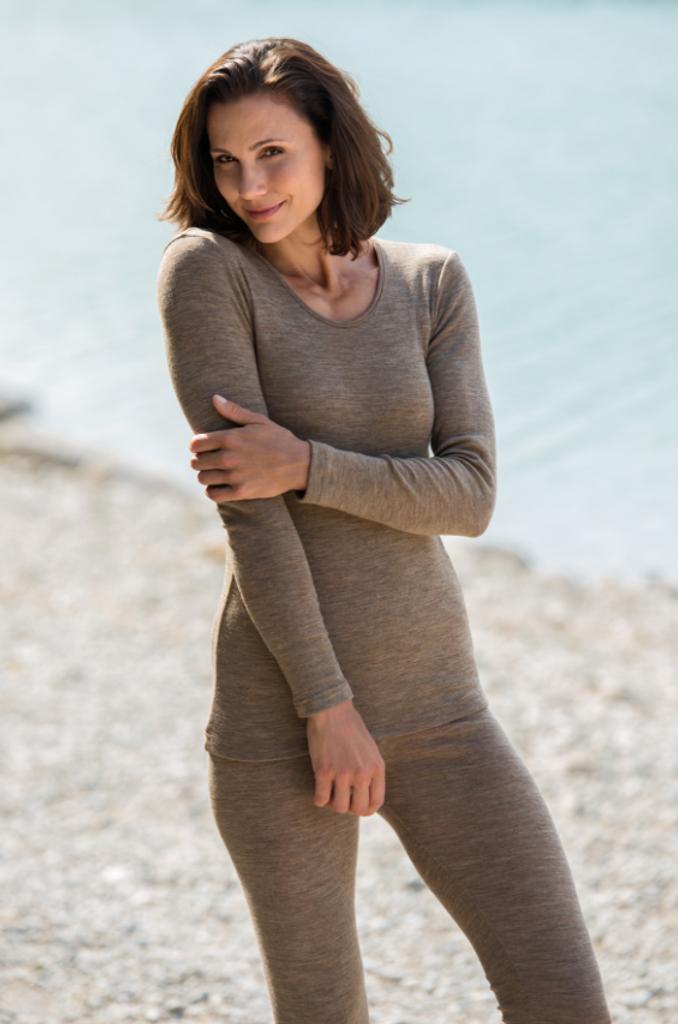 Engel Organic Wool/Silk Women's Leggings Color: Walnut