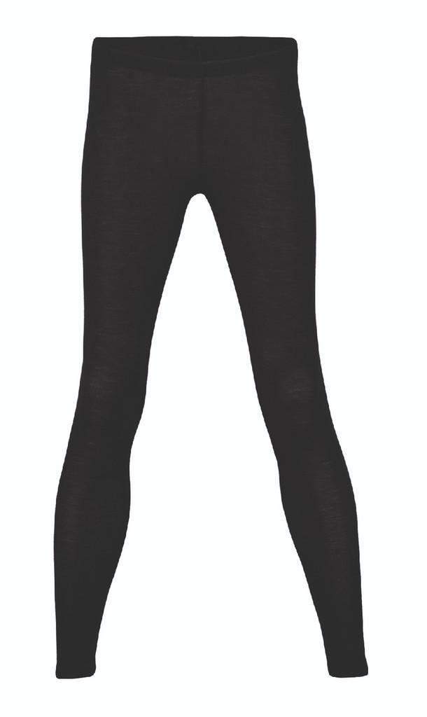 Engel Organic Wool/Silk Women's Leggings Color: Black