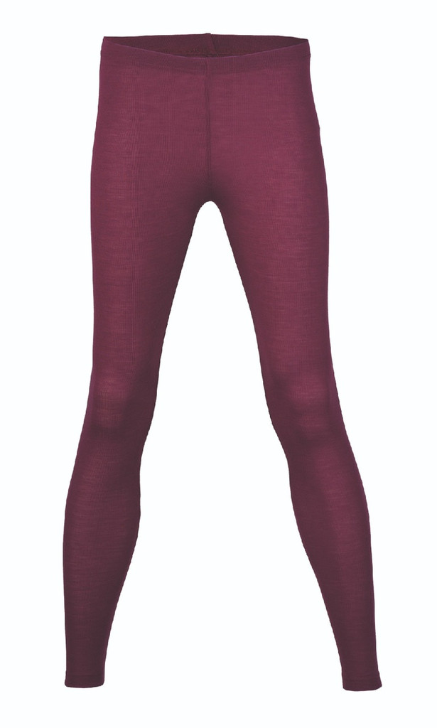Engel Organic Wool/Silk Women's Leggings Color: Orchid