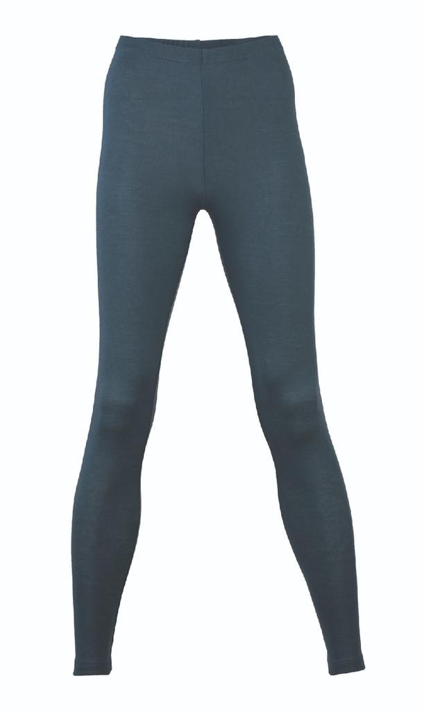 Engel Organic Wool/Silk Women's Leggings Color: atlantic