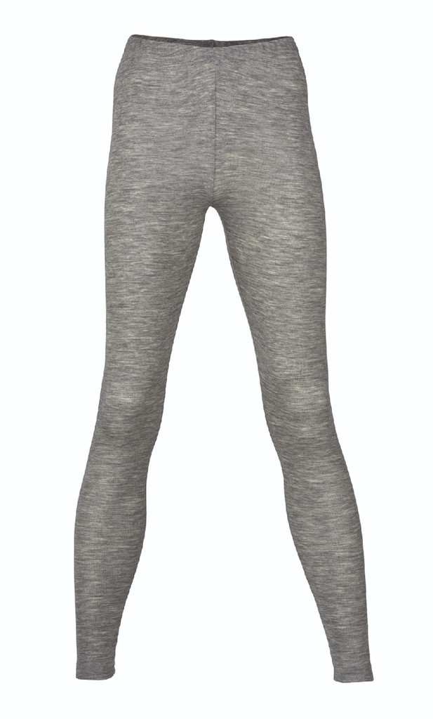 Engel Organic Wool/Silk Women's Leggings Color: Grey Melange