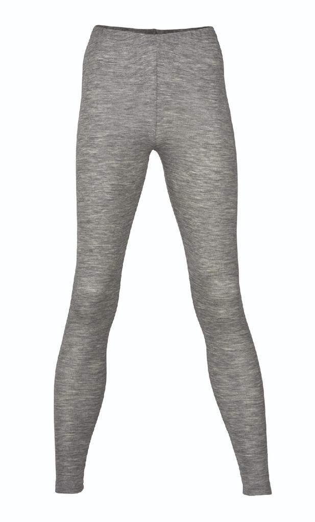 Engel Organic Wool/Silk Women's Leggings Color: Grey Melange