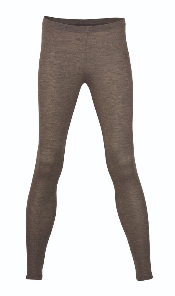 Engel Organic Wool/Silk Women's Leggings Color: Walnut