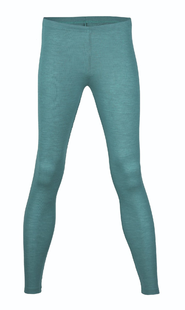 Engel Organic Wool/Silk Women's Leggings Color: Turquoise