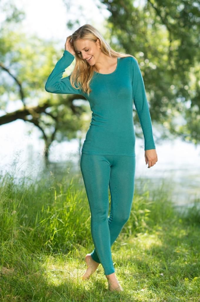 Engel Organic Wool/Silk Women's Fine Rib Underwear Leggings