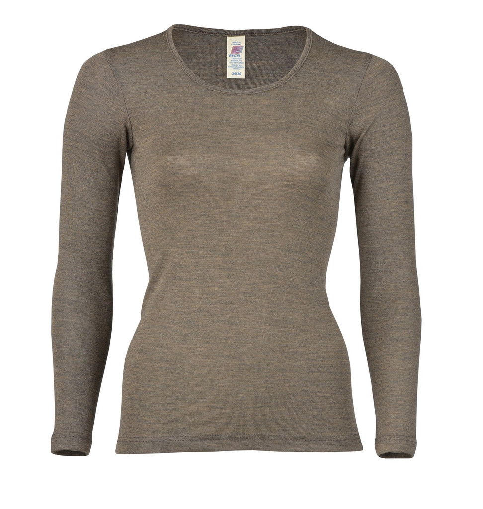 Engel Organic Wool/Silk Women's Long Sleeved Shirt  Color: Walnut