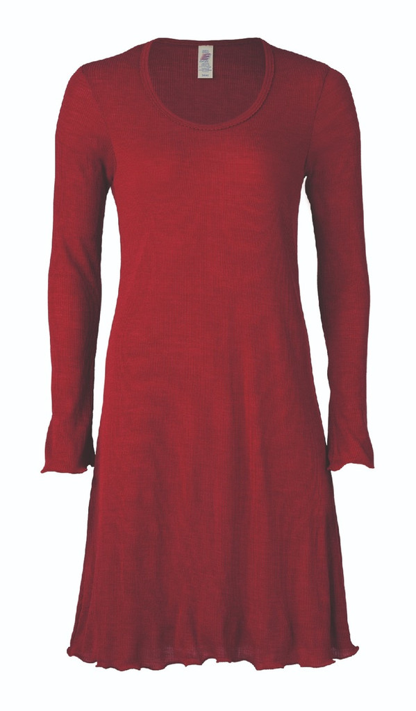 Organic Wool/ Silk Women's Nightgown Color:  malve