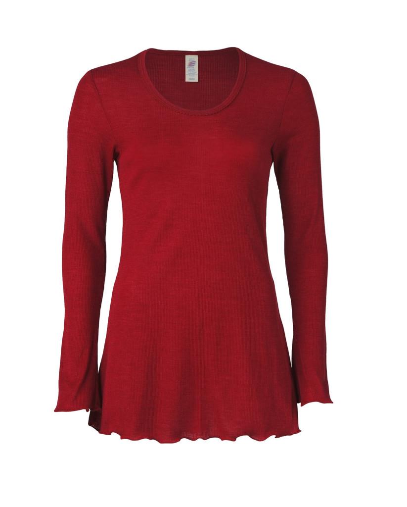 Organic Wool/ Silk Women's Nightshirt Color: 66E malve