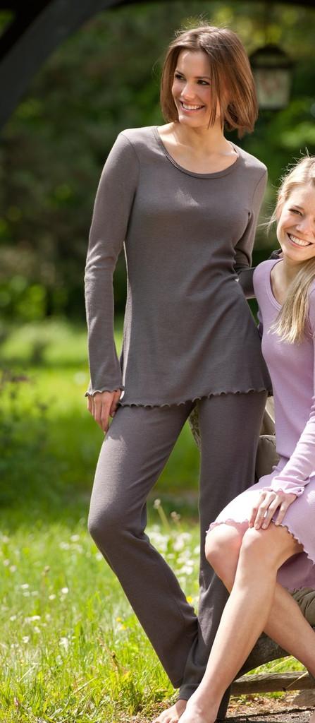 Organic Wool/ Silk Women's Pajama Pants Color: taupe