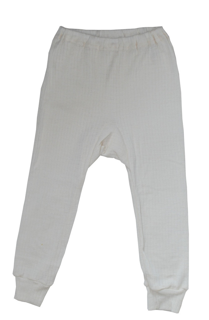 Organic Wool/ Silk/ Cotton Long Johns for Children Color: Natural
