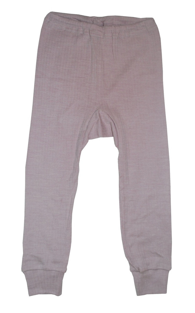Organic Wool/ Silk/ Cotton Long Johns for Children Color: Pink