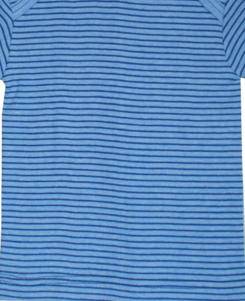Organic Cotton Long Sleeved Shirt for Children Color: Blue/ Navy/ Natural Stripes