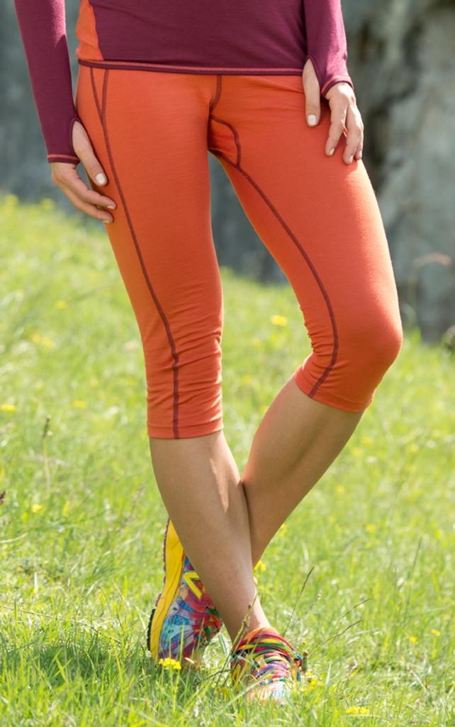 Organic Wool/ Silk Women's Midweight 3/4 Leggings