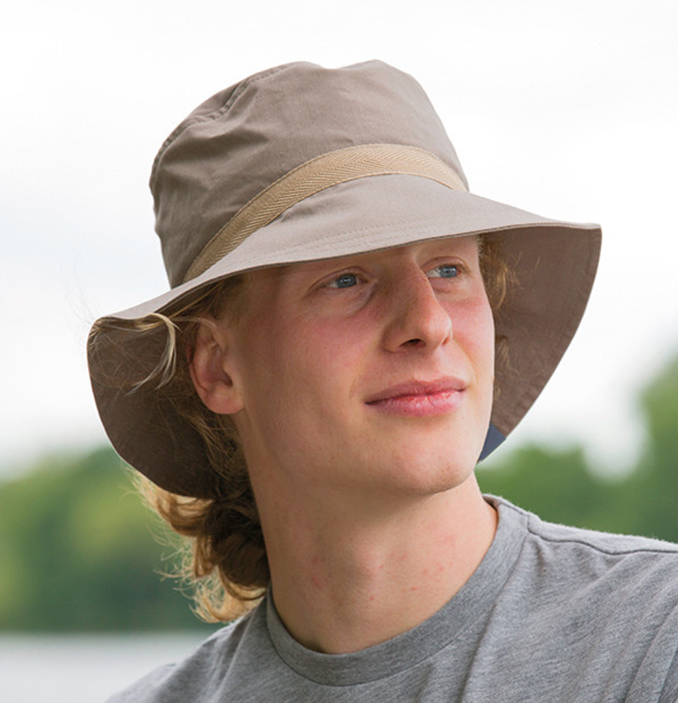 Organic Cotton Sun Hat Color: dark khaki- UV80
