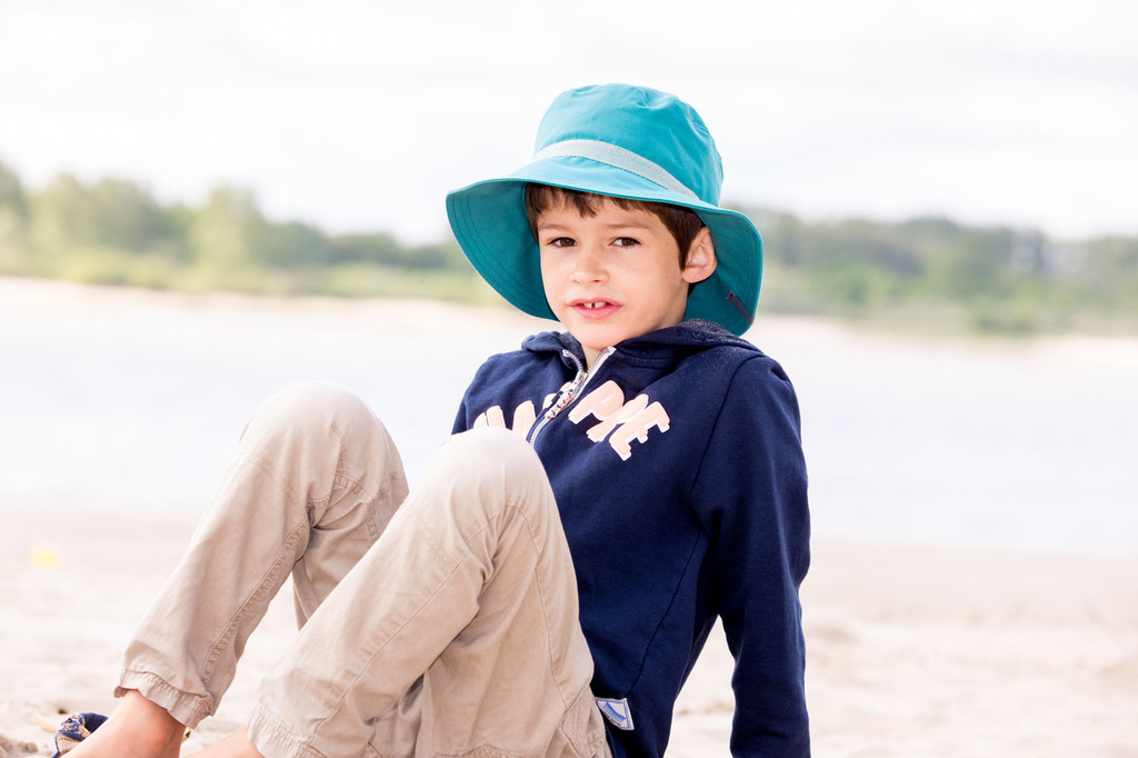 Organic Cotton Sun Hat Color: 265 Dark Turquoise (UV80)