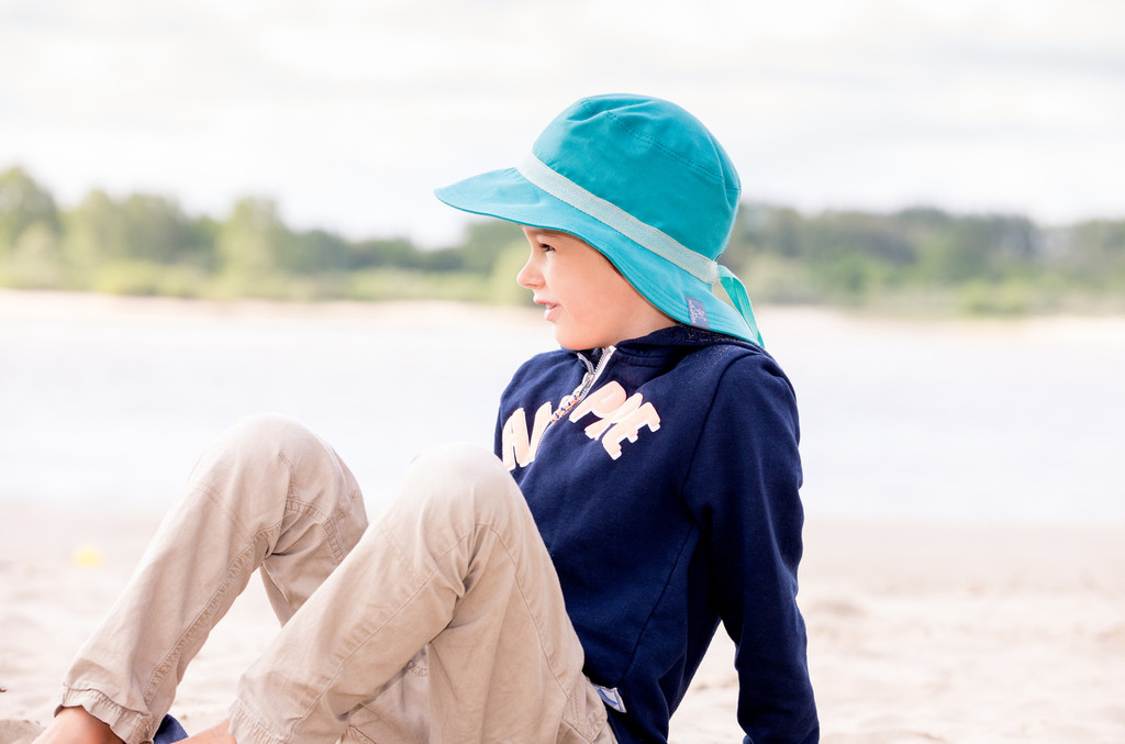 Organic Cotton Sun Hat Color: 265 Dark Turquoise (UV80)