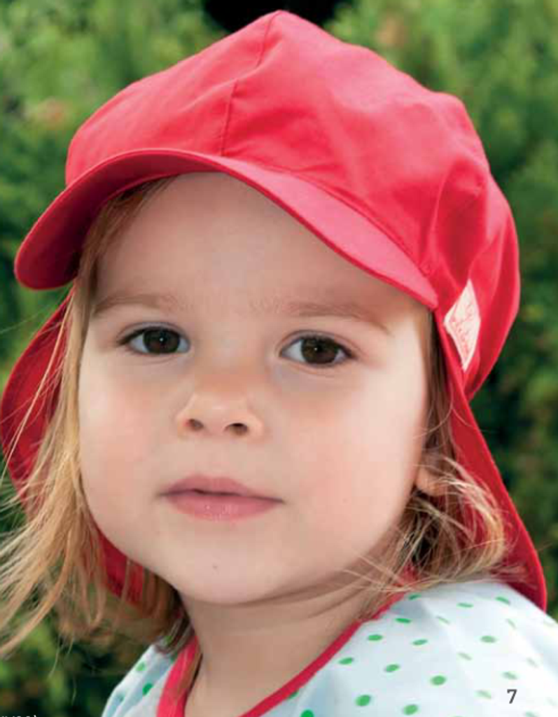 Organic Cotton Sun Hat Color: red
