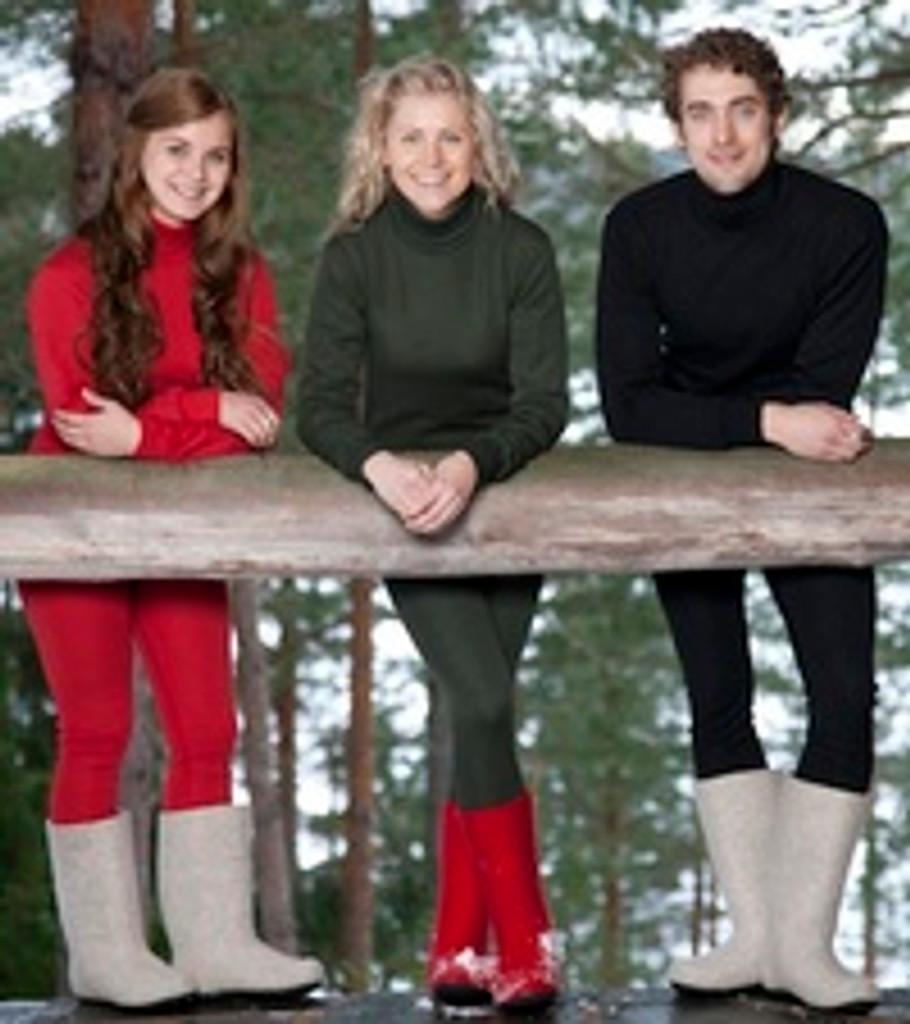 Ruskovilla Organic Merino Wool Turtleneck for Adults, Unisex