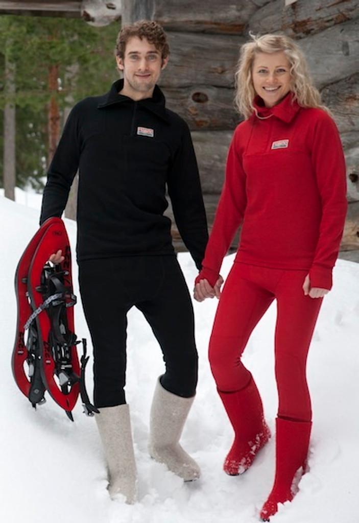 Ruskovilla Organic Merino Wool Outdoor Shirt for Adults, Unisex