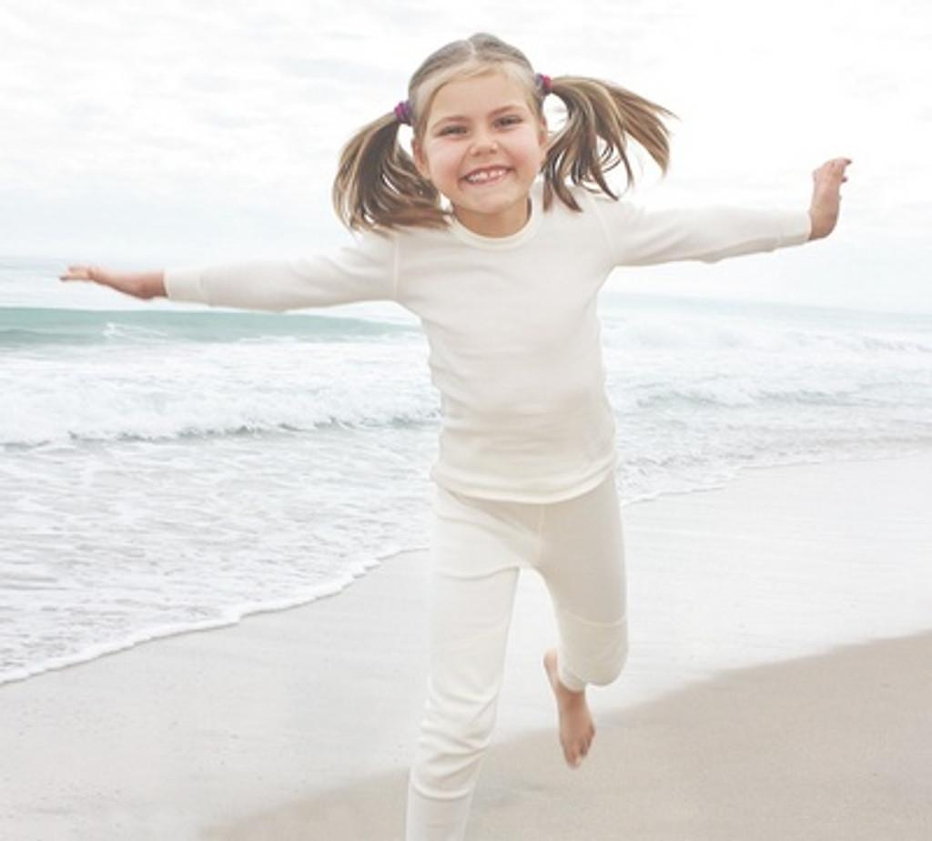 Ruskovilla Natural Silk Long Sleeved Shirt for Children