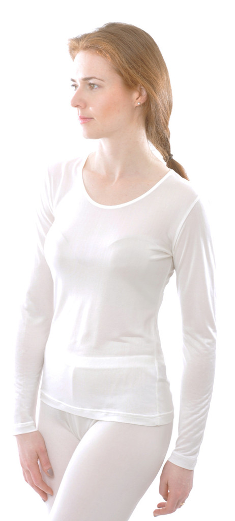 Organic Silk Long Sleeved Shirt for Women