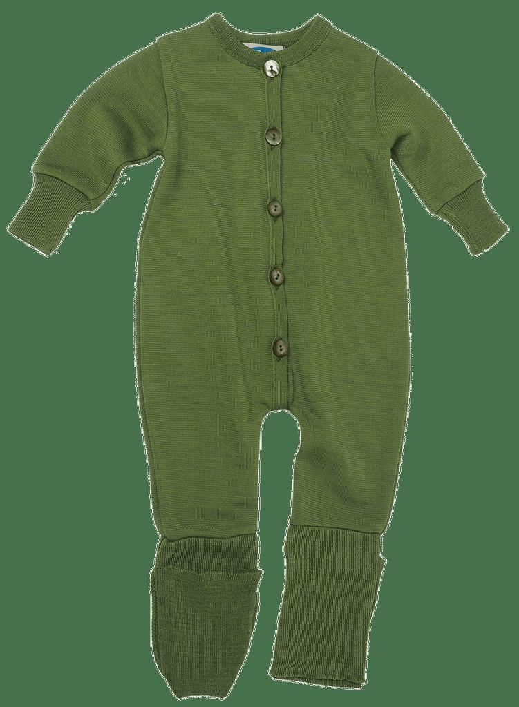 Organic Merino Wool/ Silk Romper with Optional Feet